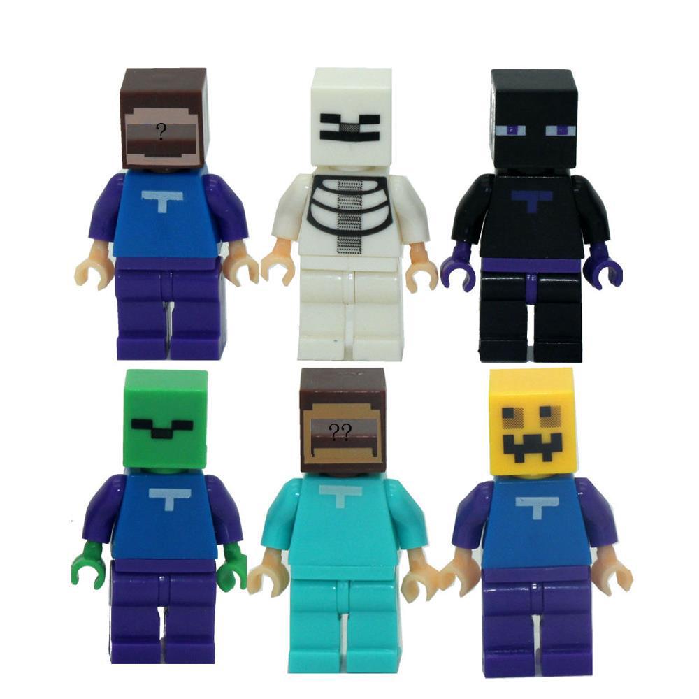 6pcs lot Game Minecraft Kid Baby Toy Mini Figure Building Blocks Sets Model Toys Minifigures Brick