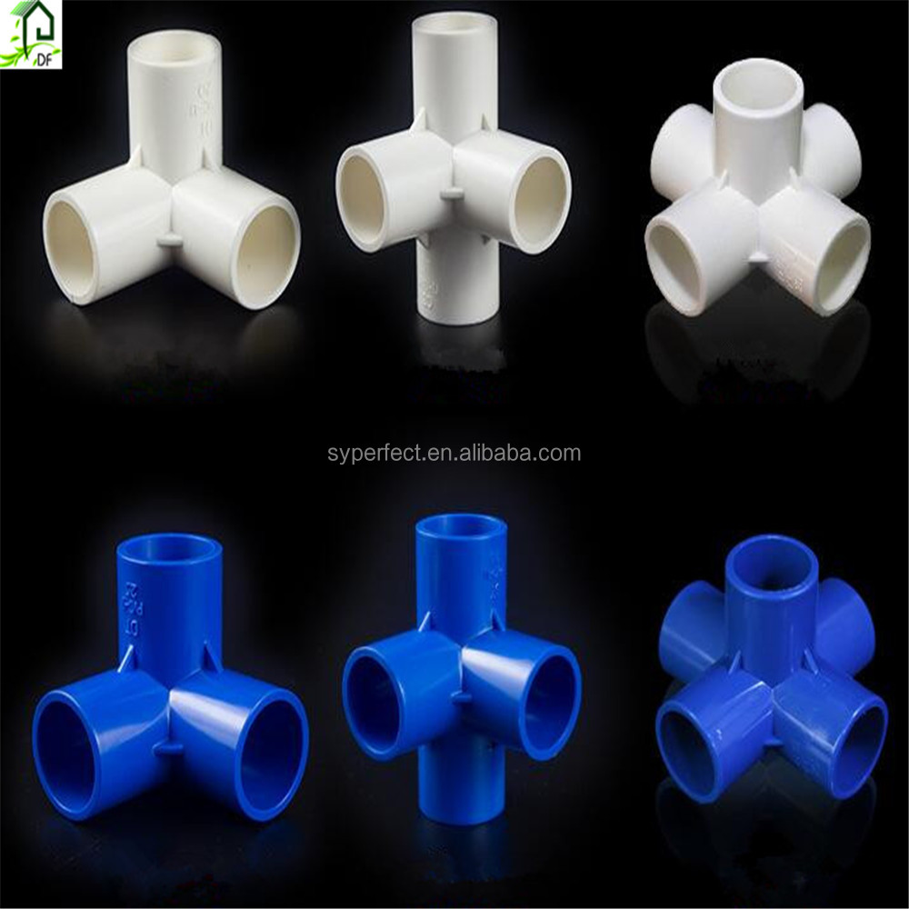 3 Way 4 Way 5 Way PVC Blue Connection Fitting