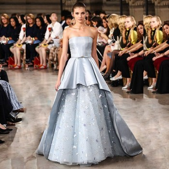 2016 Blue Floor Length Italian Dress Alibaba Wedding Dress Party ...