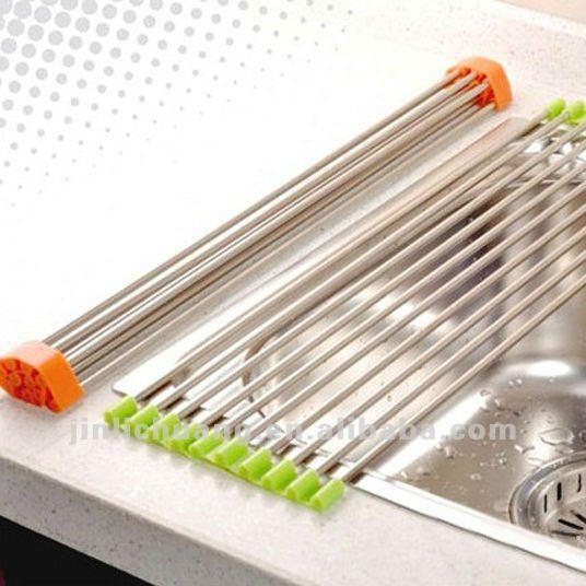 silicone ustensiles de cuisine rouleau plat gouttoir tapis inoxydable drainerboard tuyaux de. Black Bedroom Furniture Sets. Home Design Ideas