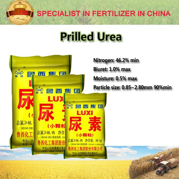 Urea 46% from China Luxi nitrogen fertilizer urea 46