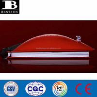 2015 NEW design Inflatable Pillow Book pvc notebook cover pillow pvc soft blow up pillow book