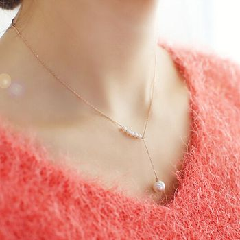 2017 Hot Sell Korean Elegant Adjustable Short Necklace Latest Design Pearl Beads Necklace