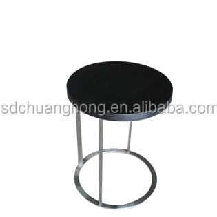 hotel contact furniture round coffee table/sofa side table in ss leg and wood top paint CT-A019