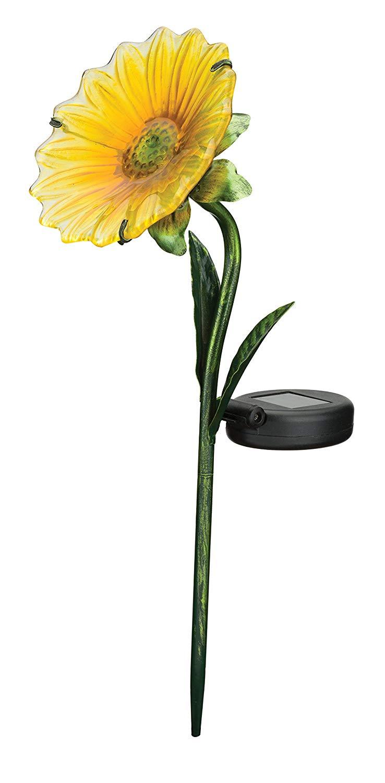 Regal Art & Gift 11638 Mini Daisy Stake Solar Light Garden Decor, Yellow