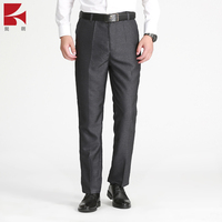 OEM supplier High Quality Casual Custom slim fit Trousers Men's Black Pants