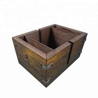High quality wood bar caddy Tissue Holder bar restaurant napkin holder with custom design