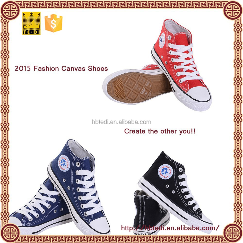 Popular teenager lace up canvas shoes with all sizes flat sneakers