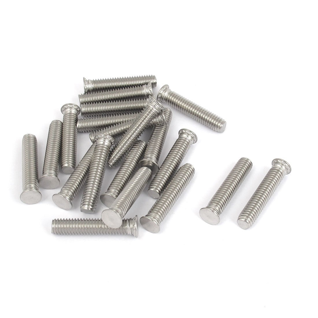 uxcell M6x30mm Flush Head Stainless Steel Self Clinching Threaded Studs 20pcs