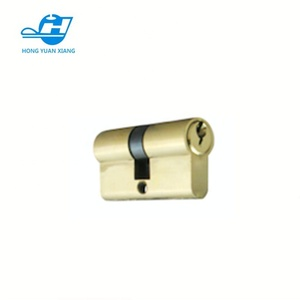 full Brass or Zinc alloy or steel door lock cylinder with normal keys any style any size factory design
