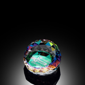 Custom Colorful Crystal Prism Paperweight