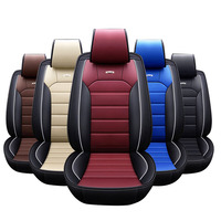 Full Set Factory Price Universal Car Seat Cover Breathable leather Cover Car Seat