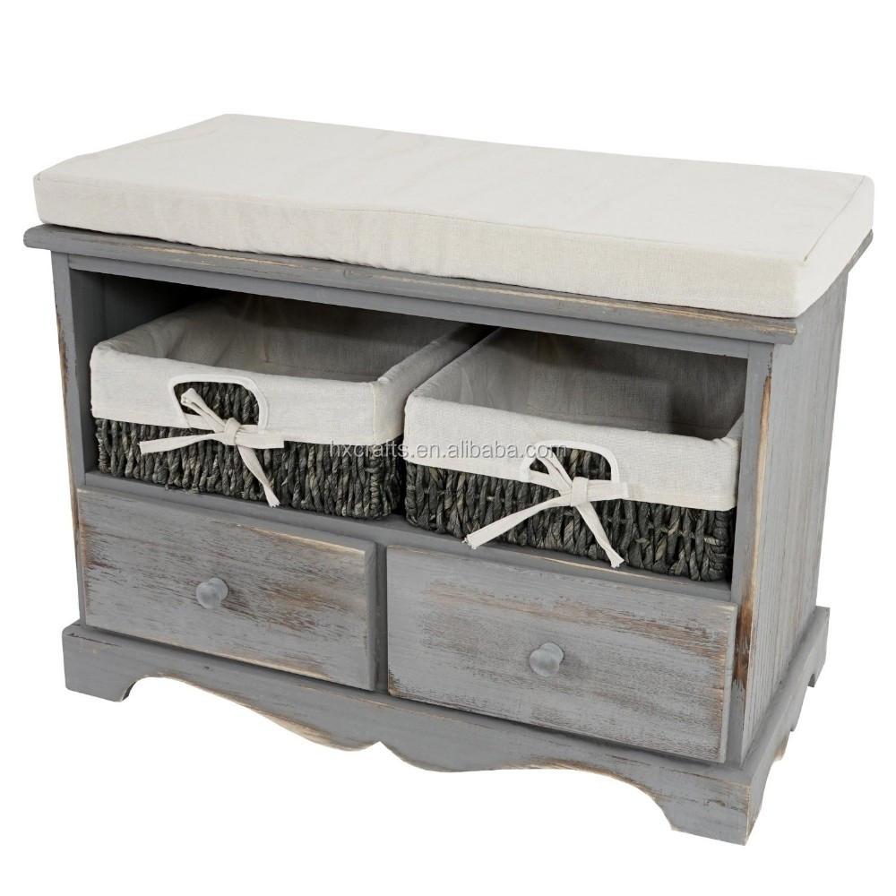 sitzbank kommode/ shabby- look wood bench, view shabby wooden bench