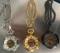 Wholesale Antique Skeleton hollow mechanical watches Hand Winding mechanical pocket watch
