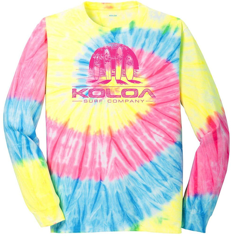 c34e468e75aa3 Koloa Surf Graphic Logo Long Sleeve Tie-Dye T-Shirts in Sizes S -