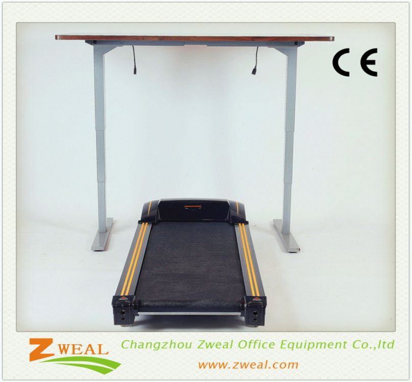 three lifting legs office table electric height adjustable desk