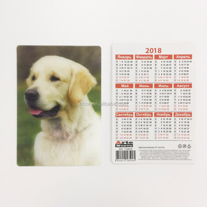 Wholesale 3D lenticular pocket calendar card/ID card/business card