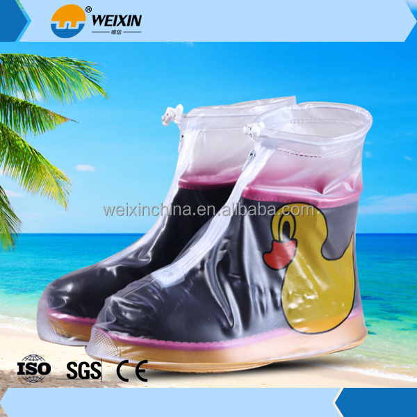 Hot selling plastic undisposable Nonwoven rain Shoe cover