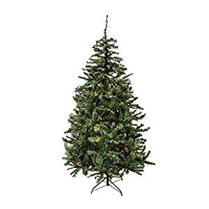 Northlight Christmas Central BRIGHT GATE F78FW46-718T-300LMUL 6.5-ft Pre-Lit Traditional Mixed Pine Artificial Christmas Tree