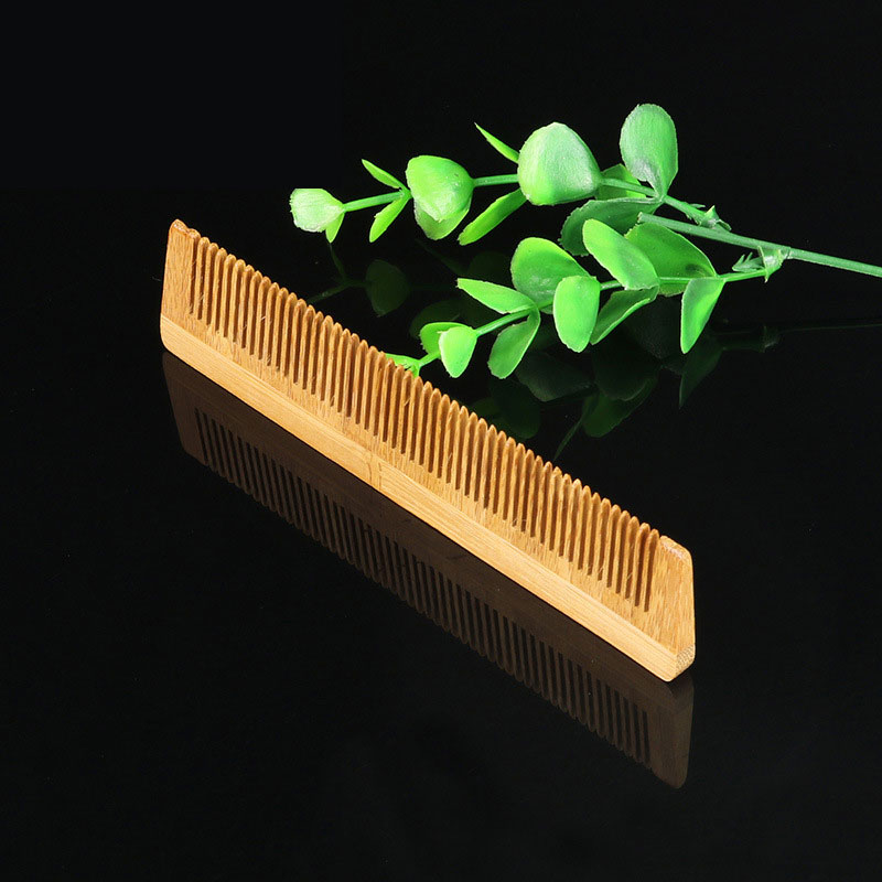 HACOMB001 personalized small wholesale mini bamboo wooden hair comb