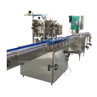 beer can filling and sealing machine