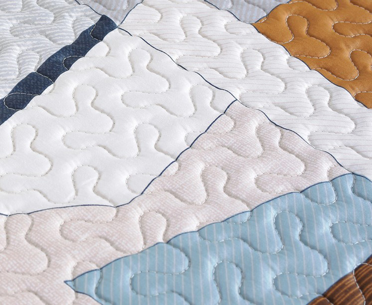 Cotton Quilted Geometric Designs Stretch Couch Protector