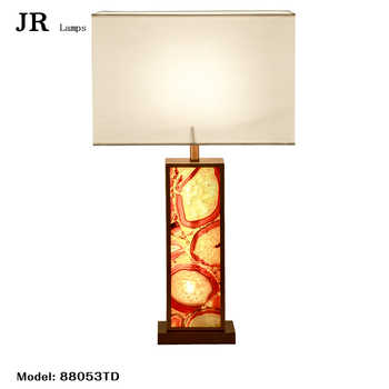 High Value Collectibles Agate Table Lamp Metal Table Lamp Home Stainless  Steel For Hotel Home