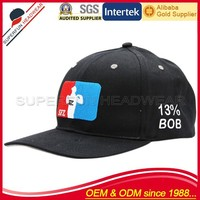 embroidered pattern men's custom basketball cap