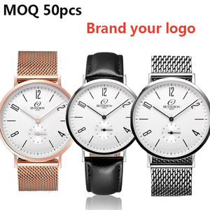 Brand My Personalized Name Watches Custom Minimalist Oem Men Stainless Steel Watches
