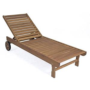 Get Quotations · 100% FSC, Wood Made With Classic Wooden Deck Chair  Designed And Ventilated Horizontal Slats