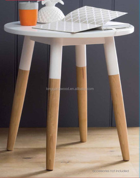 Wooden Small Coffee Serving Table Design With Folding Legs