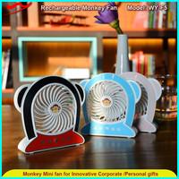 Monkey cooli fan / 2016 rechargeable mini portable usb fan for outdoor