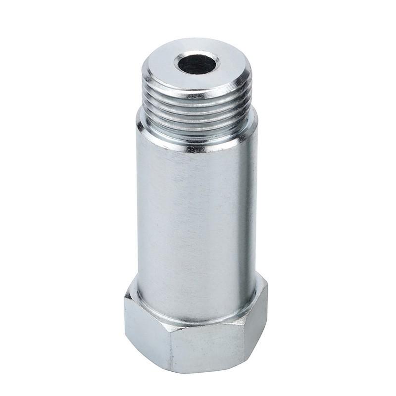 Silver Oxygen Sensor Lambda O2 M18 x1.5 Extension Extender Spacer Exhaust
