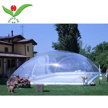 Transparent Airdome Swimming Pool Enclosure inflatable pool cover