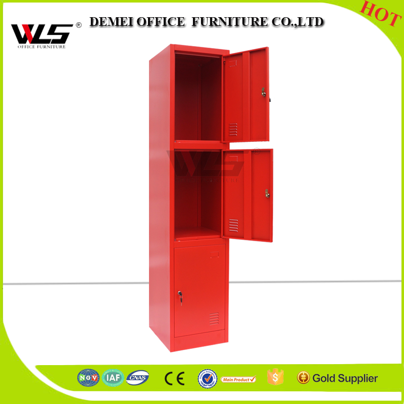 cheap lockable high-quality cloth locker 3 door furniture for sale