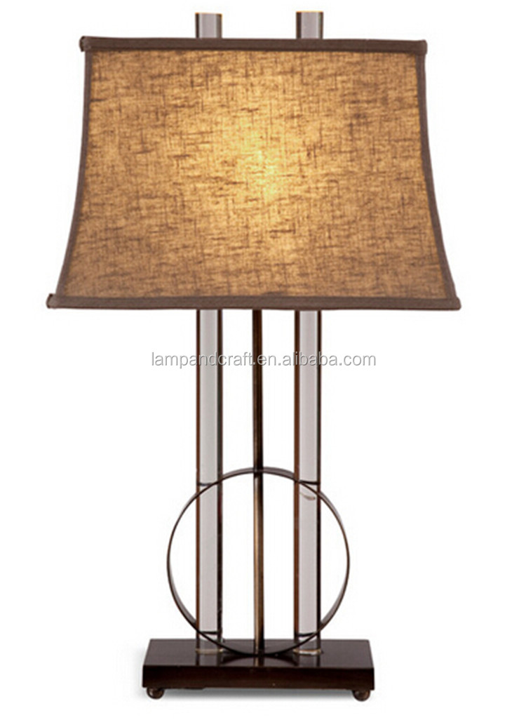 Modern Gardena Table Lamp With White Cylinder Lampshade With ...