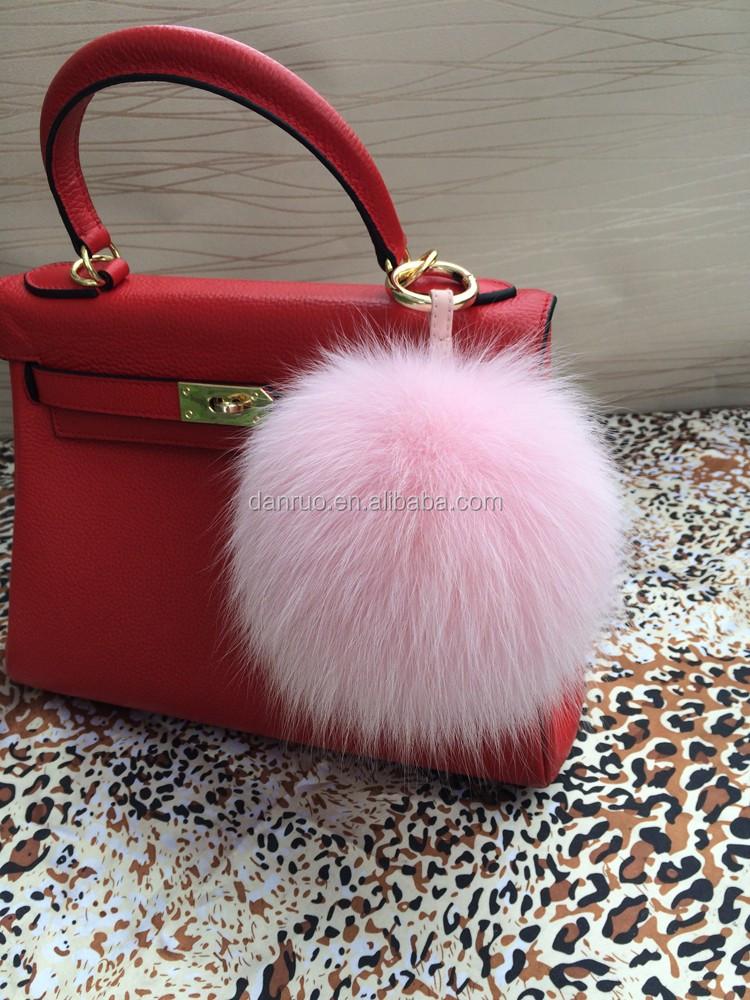 bag accessories fox fur pom charm fur pom pom keychain fox fur pom poms 1148d3a3422a