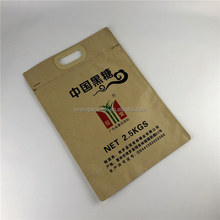 High quality food grade 25kg kraft paper bag with handle