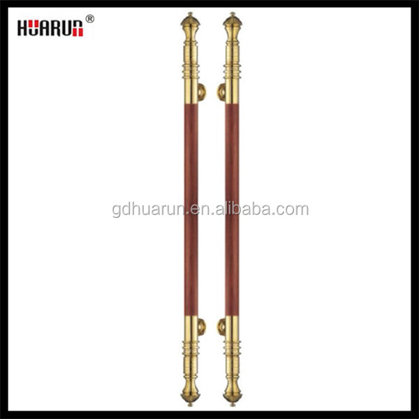Senior customized fashion green bronze&royal rosewood 304 stainless steel total length 1200 mm back to back door pull handle