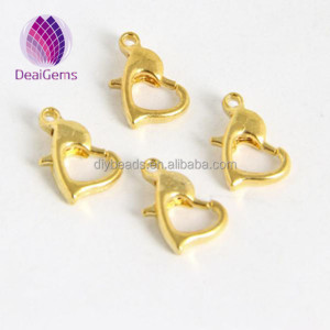 10mm heart shape metal lobster clasp factory price lobster claw