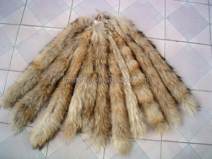 raccoon fur trim for hood winter jacket