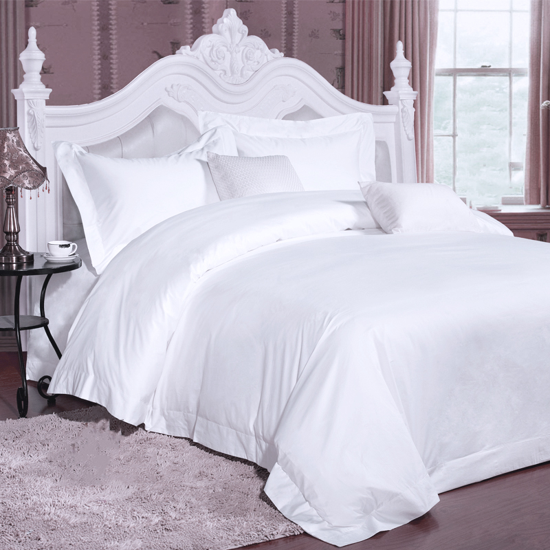 Good Quality 100% Cotton White Luxury Design Hotel Bedding in Dubai
