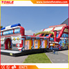 commerical big inflatable firetruck Slide/ inflatable fire truck slide for sale