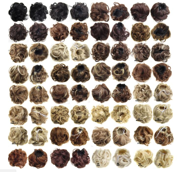 wholesale synthetic padding with new elastic net blond hair bun