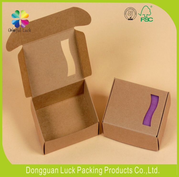 Natural brown kraft paper soap box eco-friendly handmade soap packaging box