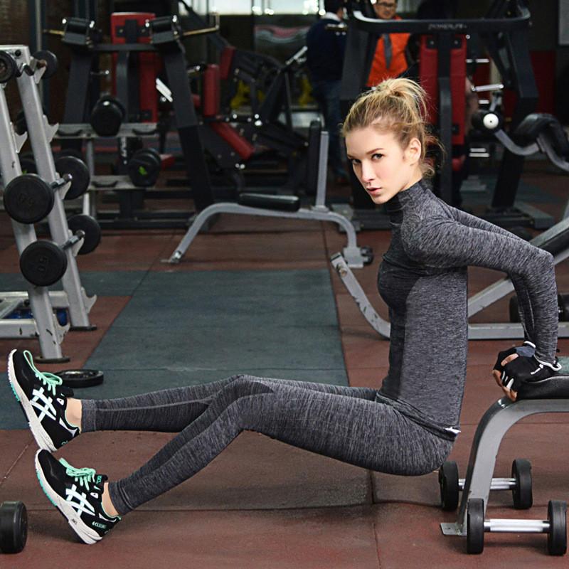 Girls sports tight leggings women compression skin tight yoga pants