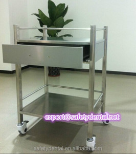 hospital mobile dental cabinet made of first grade stainless steel medical trolley dental furniture
