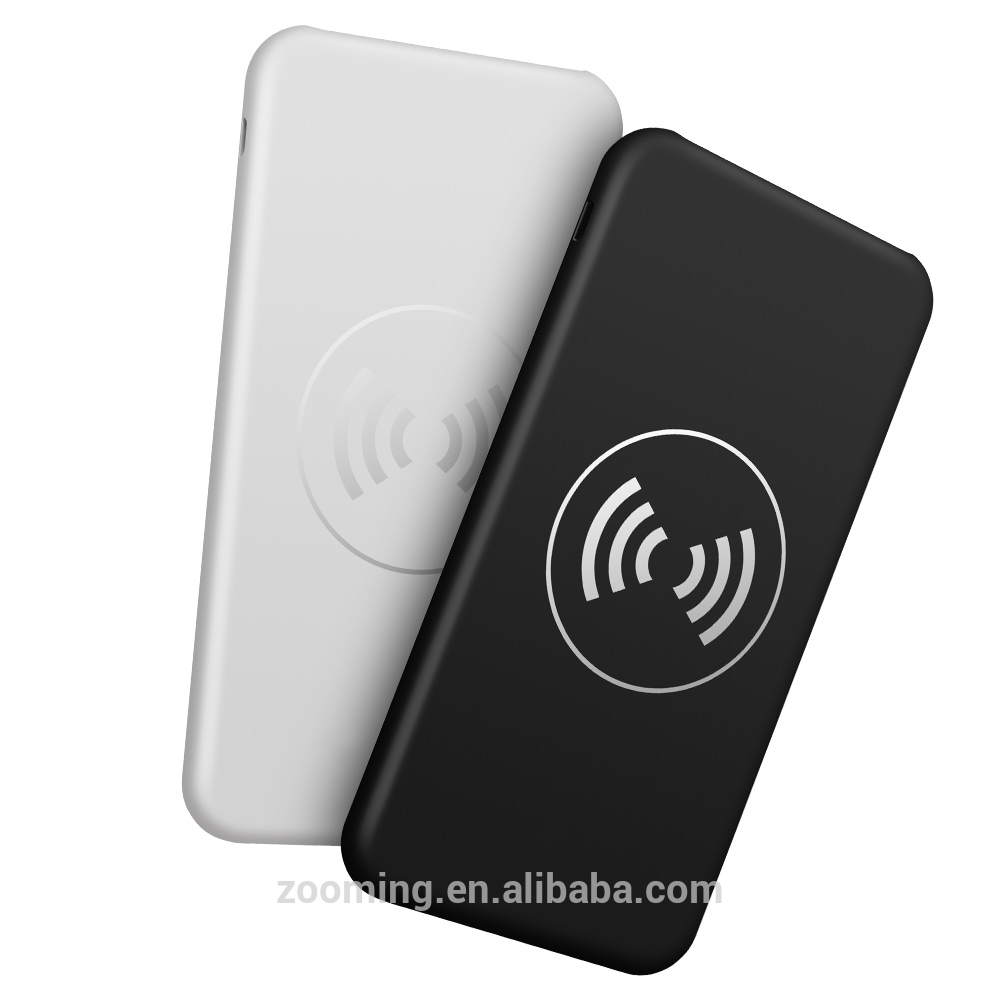 5V/2A Wireless Power Banks , Multi Use Rohs Wireless Charger Power Bank With Double Side