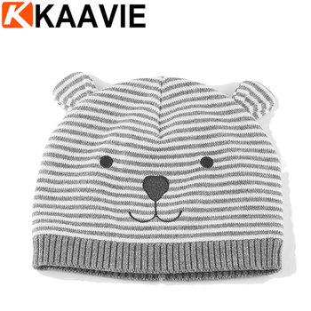 Custom winter cotton liner striped knitted hat animal pattern cheap baby  fancy beanie hat f818008ea7c