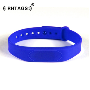 Waterproof writable electronic wristbands silicone rfid wristband access control